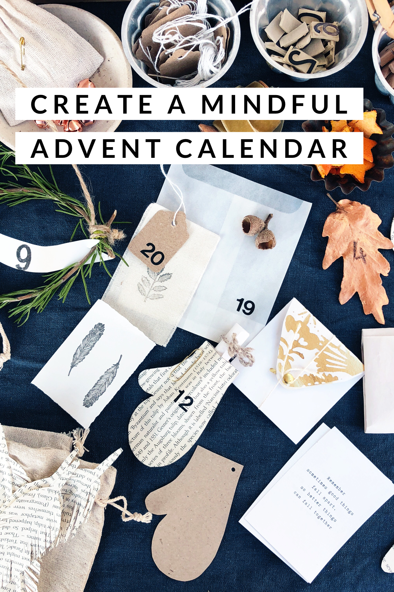 Inspiration and downloads for you to create your own Mindful Advent
