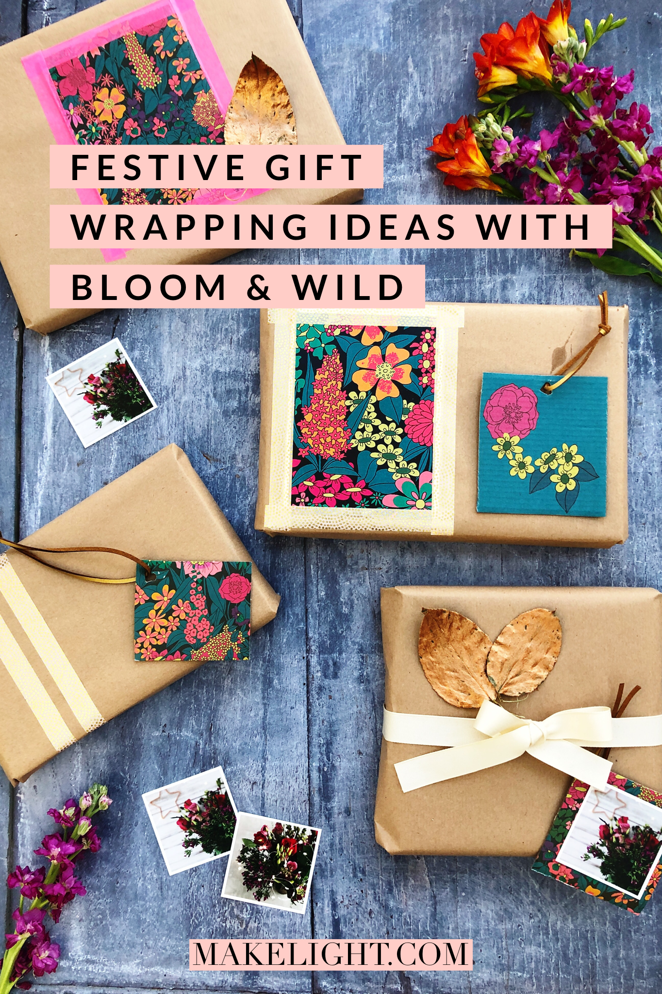 Beautiful gift wrapping ideas with Bloom & Wild