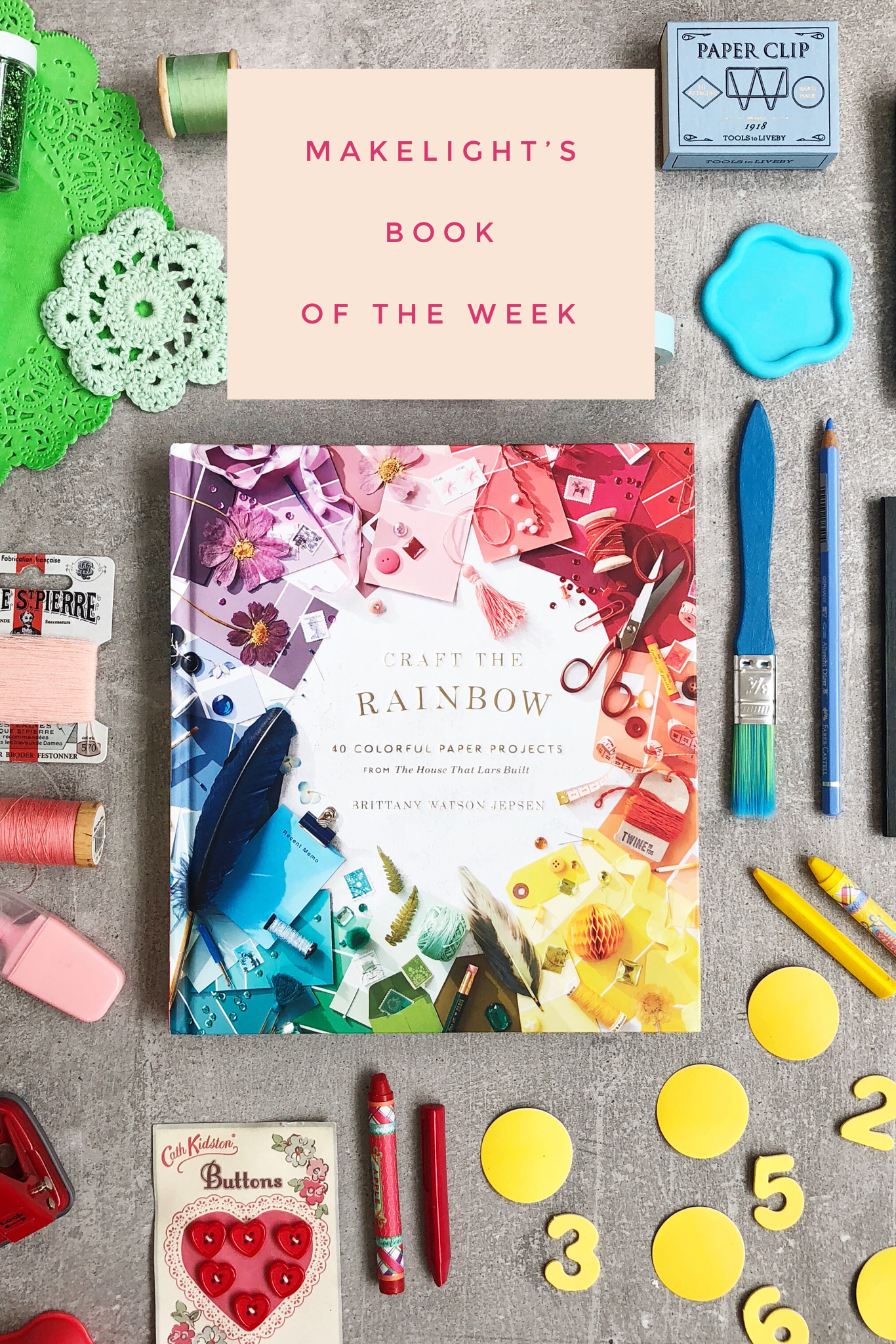 This week's book of the week is Craft The Rainbow